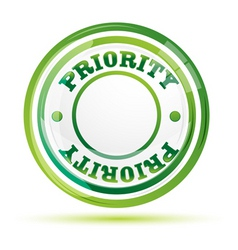 priority stamp vector image