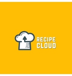 Recipe Cloud Abstract Logo Template Online vector image