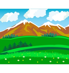 Summer in mountain vector image vector image