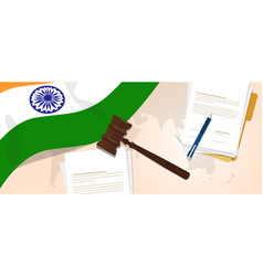 india law constitution legal judgment justice vector image
