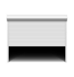 Roller shutter garage door vector image