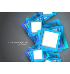 Abstract background with blue squares vector image vector image