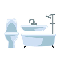 bathroom equipment set isolated on white vector image vector image