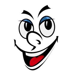 cartoon funny face vector image