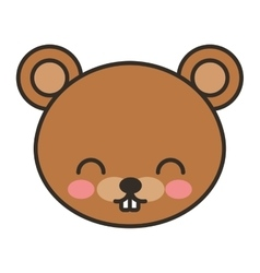 cute bear animal tender isolated icon vector image