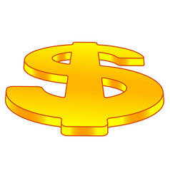 dollar sign on perspective vector image vector image