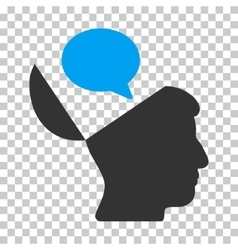 Open Mind Opinion Icon vector image