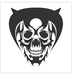 Skull tattoo and tribal design - isolated on white vector image vector image