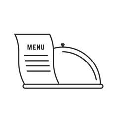 thin line dish and menu icon vector image