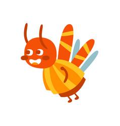 cute cartoon bumblebee colorful character vector image vector image