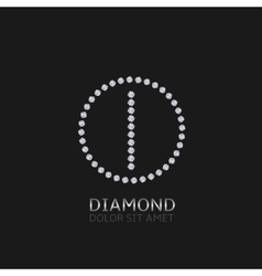 I letter with diamonds vector image