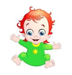 very cute a baby vector image