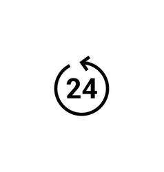 24 hour icon clock service day 24 hour vector image