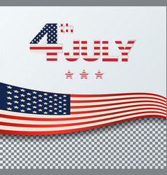 4th of july independence day background july 4th vector image