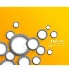 Abstract background with gray circles vector image