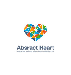 abstract business company logo healthcare and vector image
