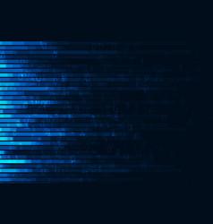 abstract digital code visualization vector image