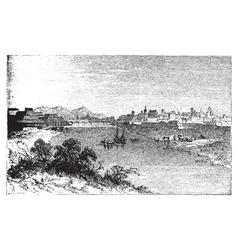 Alessandria city vintage engraving vector