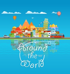 Around the world travelling concept Asia cityscape vector