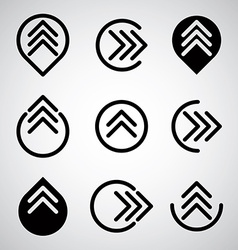 Arrow symbols set vector