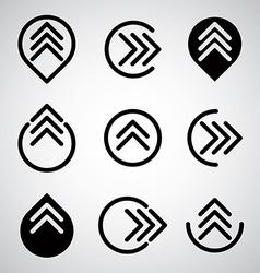 Arrow symbols set vector