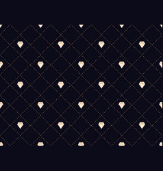 Art deco seamless pattern with diamonds style vector