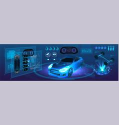 Auto service future vector