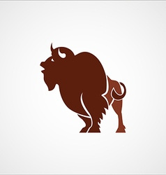 Bison buffalo leader logo sign emblem vector