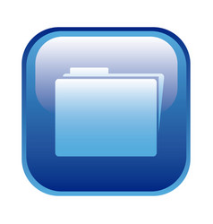 blue square frame with folder icon vector image