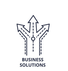 business solutions line icon concept business vector image