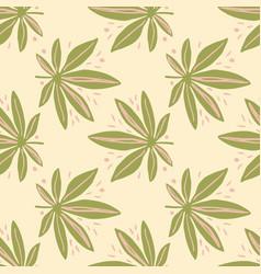 cannabis seamless pastel palette pattern light vector image