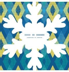 Colorful fabric ikat diamond Christmas vector