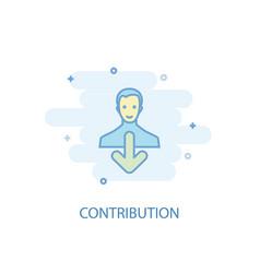 Contribution line concept simple line icon vector