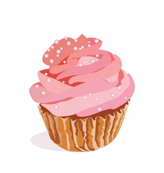 Cupcake isolated on white background vector