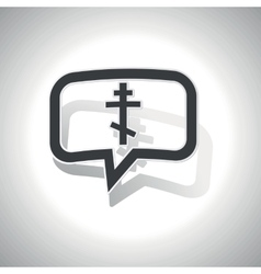 Curved orthodox cross message icon vector