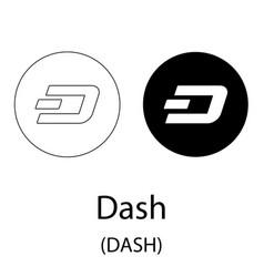 dash black silhouette vector image