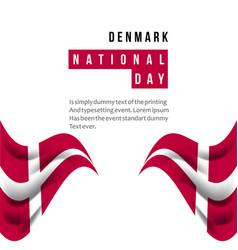 Denmark national day template design vector