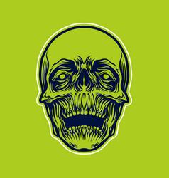 detailled skull head vector image