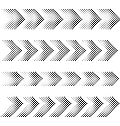 dotted arrow strip black symbols vector image