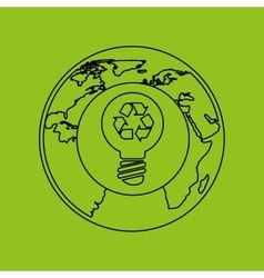 ecology eco nature protection bulb vector image