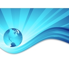 environmental background with globe vector image