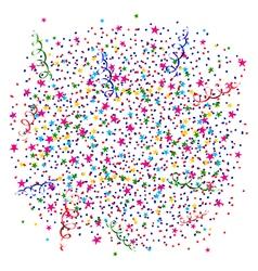 Explosion of confetti vector