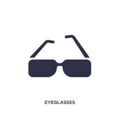 Eyeglasses icon on white background simple vector