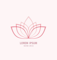 fashion unique flower logotype image trend vector image