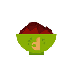flat potato nachos chips icon vector image