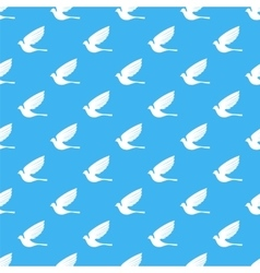 Fly Dove Bird Seamless Pattern vector