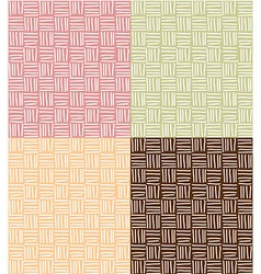 Four seamless patterns with hand drawn line grid vector image