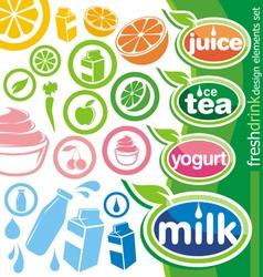 fresh drink design elements vector image