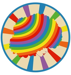 girl on a rainbow background vector image