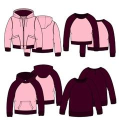 Girls hoodiescolor vector